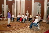 Участники VII Международного Марафона инвалидов-колясочников «Содружество» во дворце Румянцевых и Паскевичей