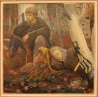 Выставка одной картины «Березовый сок» белорусского живописца Николая Полянкова.