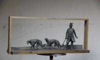 Открытие скульптурной композиции гомельского художника Вячеслава Долгова «Прогулка с борзыми».