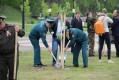 Посадка деревьев на Аллее Памяти Гомельского дворцово-паркового ансамбля, посвящённая 70-летию Великой Победы
