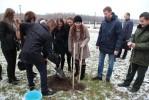 Памятная посадка деревьев на новой набережной реки Сож
