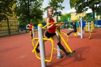 Открытие спортивной площадки уличных тренажеров
